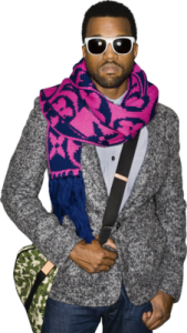 Kanye-West-with-Louis-Scarf