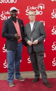 Maqbul of Capital fm (left) with Coke Studio Producer David Sanders