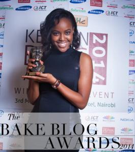 Sharon with her BAKE Award