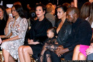 Givenchy : Front Row - Paris Fashion Week Womenswear Spring/Summer 2015