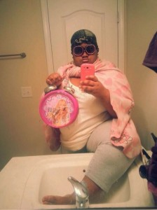 Fat, Clock, Shades selfie