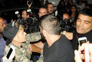 Justin Beiber Punching