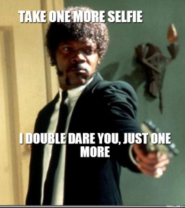 Psycho selfie pulp fiction