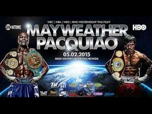 Mayweather Pacman Fight Poster