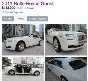 Rolls Royce Ghost price tag