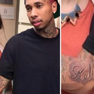 Tyga gets a tattoo of his girlfriend, Kylie Jenner