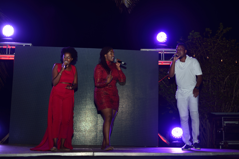 Elani performing at Vipingo Private Beach during Coca-Cola's Taste The Feeling Launch