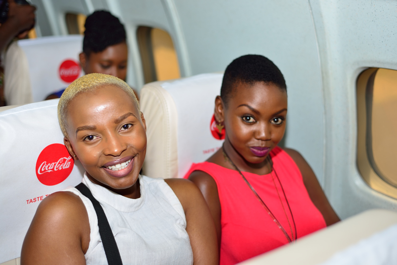 Joy Kendi and Patricia Kihoro all smiles ready to Taste The Feeling