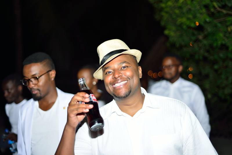 Stephen Musyoka couldn't help but smile when he tasted the Feeling