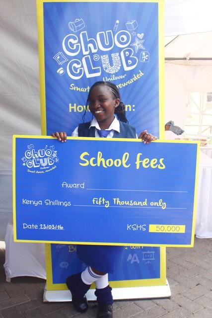 Katelyne Wanjiku-Kihumbu-Ini Girls Secondary School (204) Shs.50,000 cheque winner