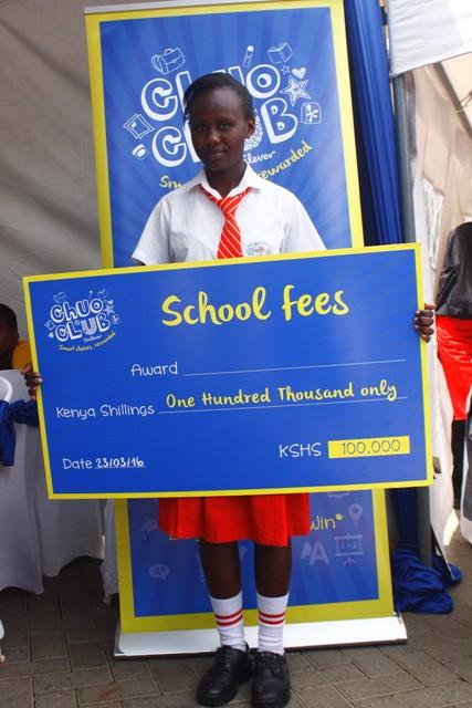 Lucy Kyalo, Tala Girls (304) Shs.100,000 cheque winner