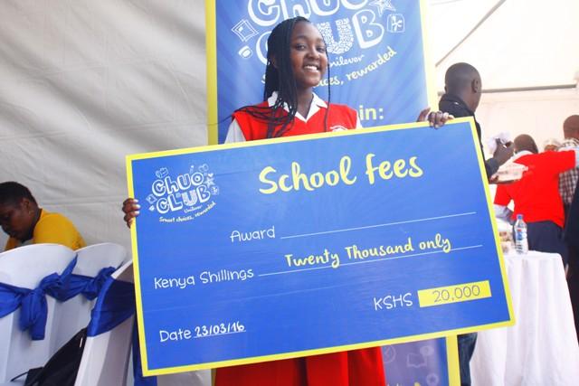 Pascaline Kahuro-Loreto Limuru High School, (304) Shs. 20,000 cheque winner