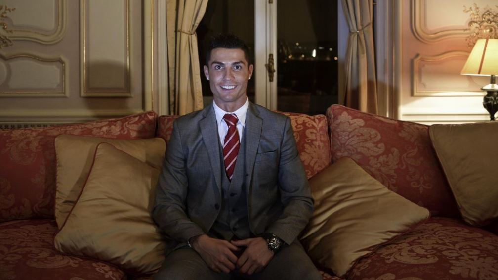Cristiano Ronaldo at the hotel launch event (PATRICIA DE MELO MOREIRA/AFP/Getty Images)