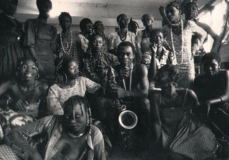 Fela Kuti with his 27 wives