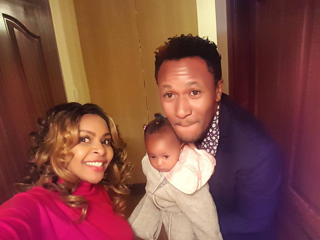Size 8 with her adorable family