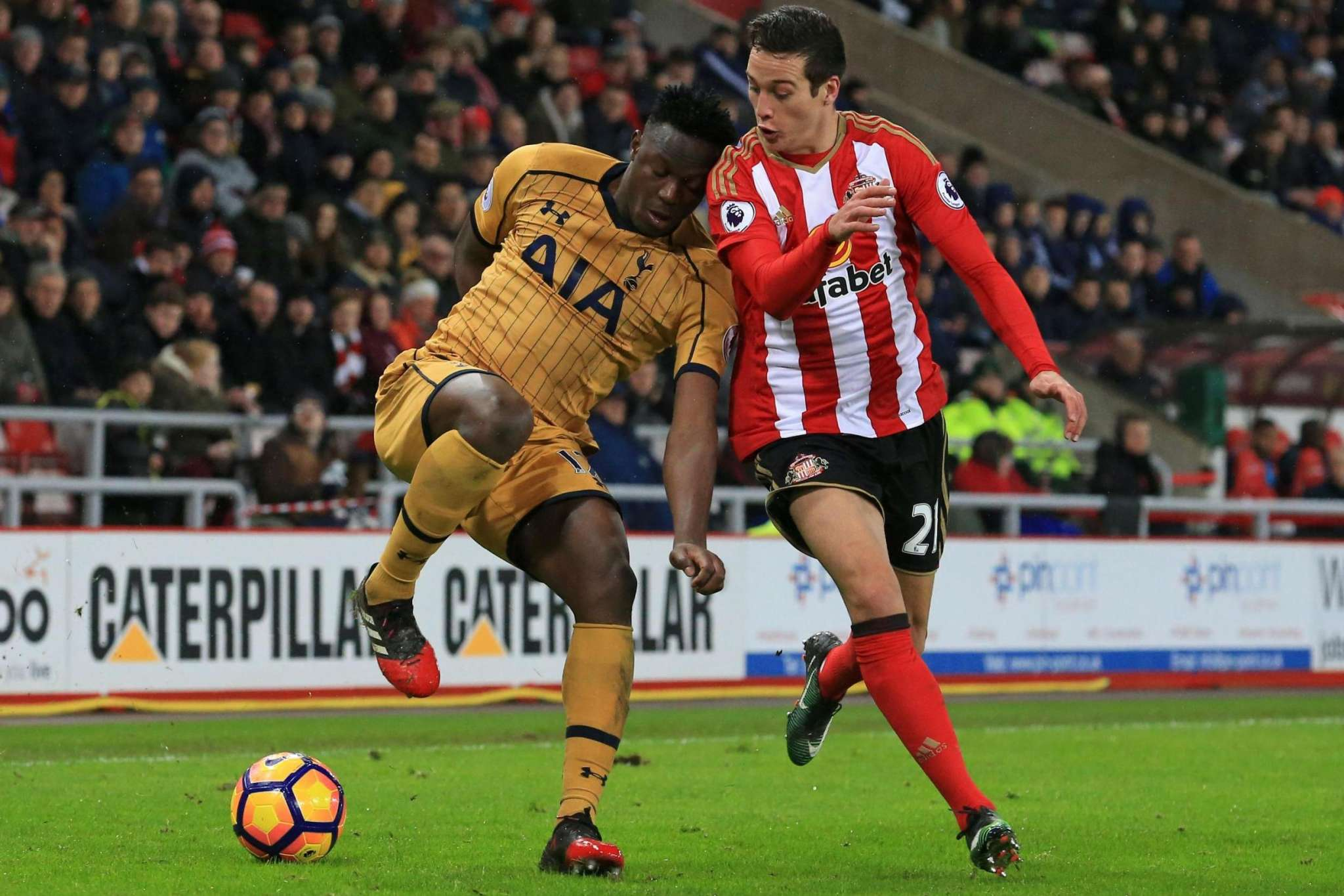 Wanyama in action